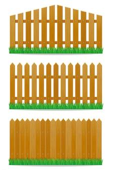 木製のフェンスのベクトル図