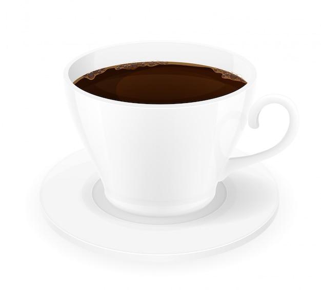 一杯のコーヒーのベクトル図