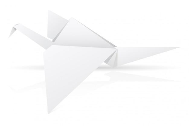 Оригами бумаги аист векторные иллюстрации