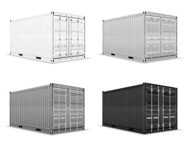 Грузовой контейнер векторная иллюстрация