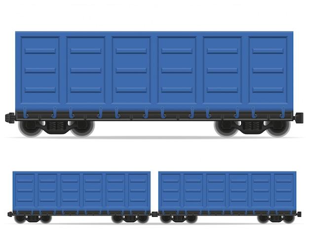 Железнодорожный вагон поезд векторная иллюстрация