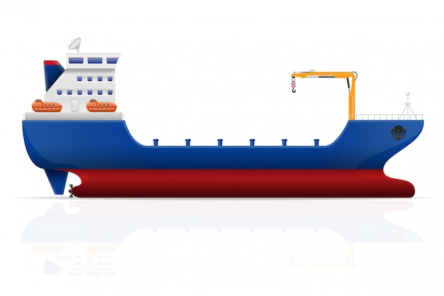 航海貨物船のベクトル図