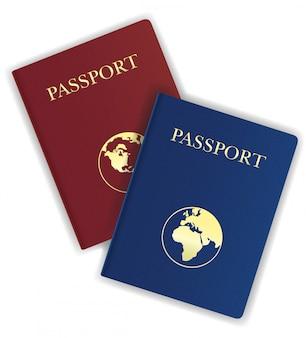 Паспорт векторная иллюстрация