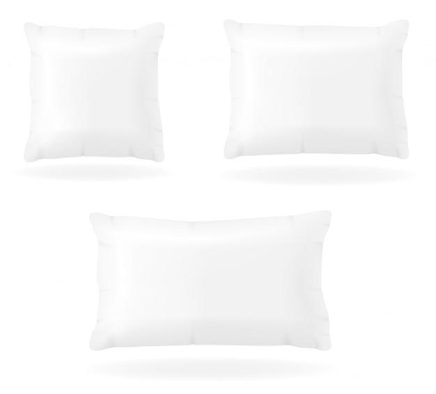 Белая пустая подушка для сна векторная иллюстрация