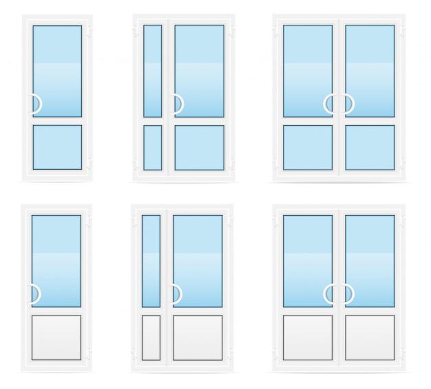 プラスチック製の透明なドアのベクトル図