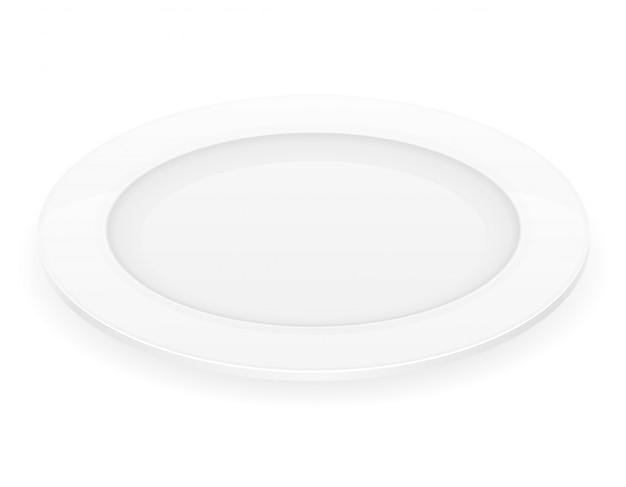 磁器ホワイトプレートベクトルイラスト