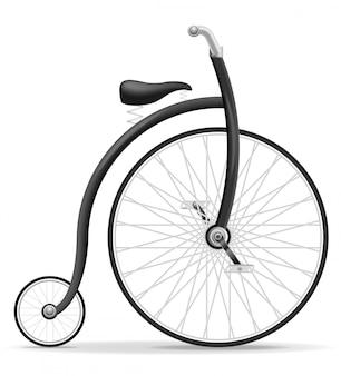 自転車の古いレトロビンテージベクトル図