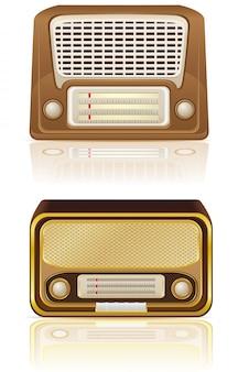 レトロなラジオのベクトル図