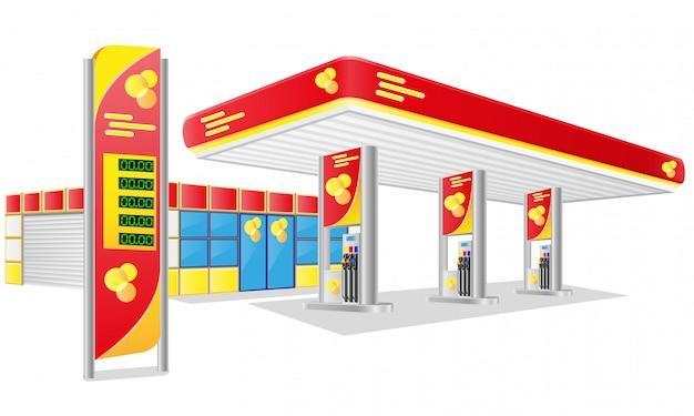 車のガソリンスタンド