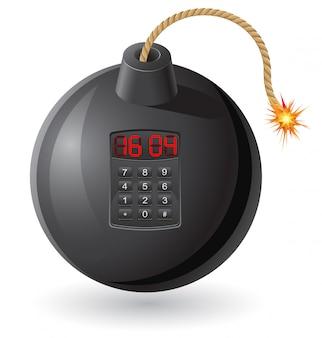 燃えるヒューズと時計仕掛けの黒い爆弾