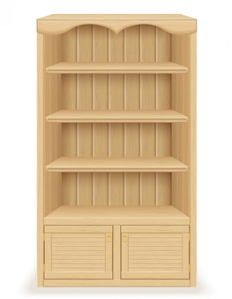 Книжный шкаф из дерева