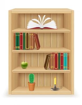 Книжная полка из дерева