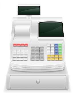 金銭登録機株式ベクトル図