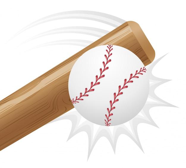 Бейсбольный мяч и бит