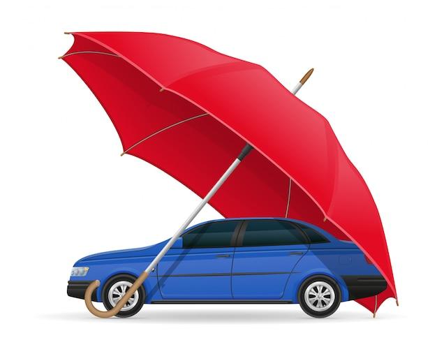 保護され、保険をかけられた車の傘
