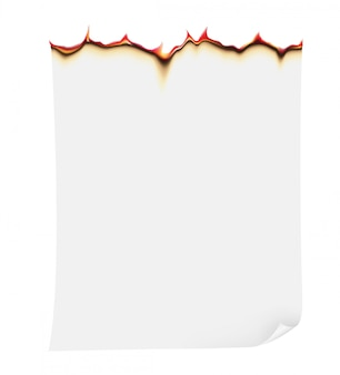 Горящая бумага векторная иллюстрация