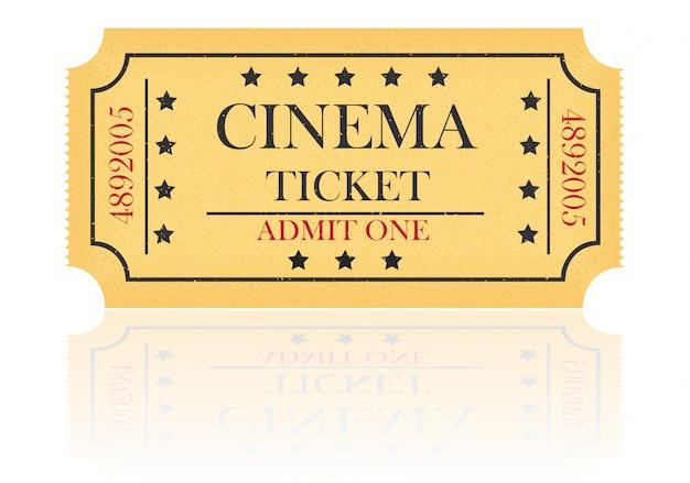 映画のチケットのベクトル図