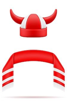 Футбольные фанаты приписывают шарф и шляпу
