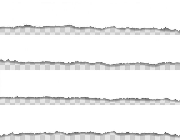 破れた紙の端の図