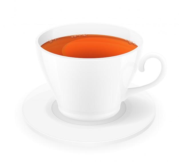 磁器一杯のお茶のベクトル図