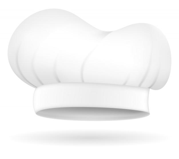 シェフの帽子のベクトル図