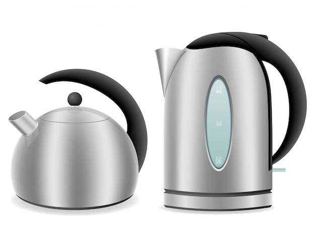Электрочайник и чайник для газовой плиты.