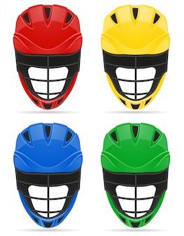 ラクロスヘルメット。