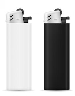 プラスチック製の使い捨てライター。