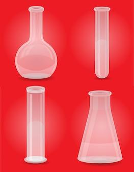 ガラス試験管は、アイコンを設定します。