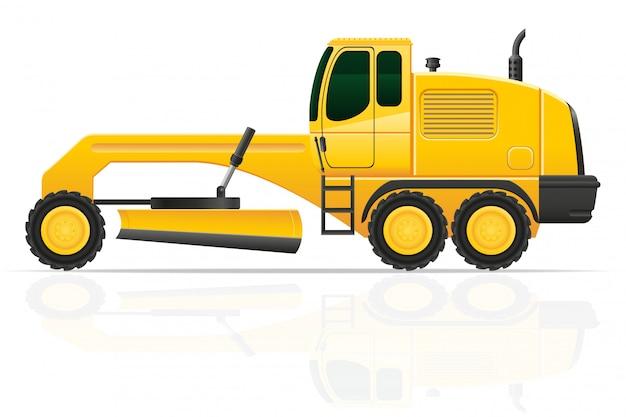 道路工事のためのグレーダー。
