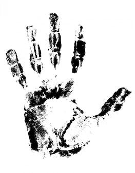 Отпечаток руки черный.
