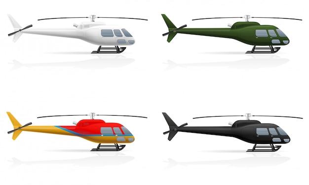 Гражданский пассажирский вертолет.