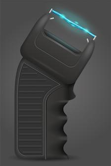 Электрошокер самообороны векторная иллюстрация