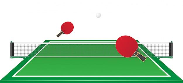 Настольный теннис настольный теннис векторная иллюстрация