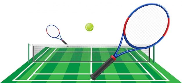 Теннис векторная иллюстрация