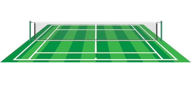 Теннисный корт с чистой векторной иллюстрацией