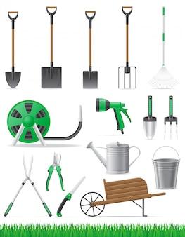 園芸工具のベクトル図を設定します。