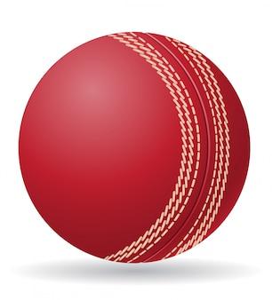 Крикет мяч векторная иллюстрация