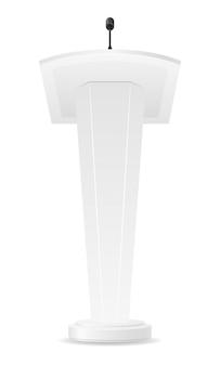 白い空白のトリビューンベクトルイラスト
