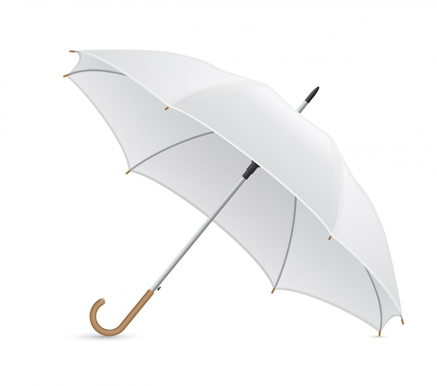 白い傘のベクトル図