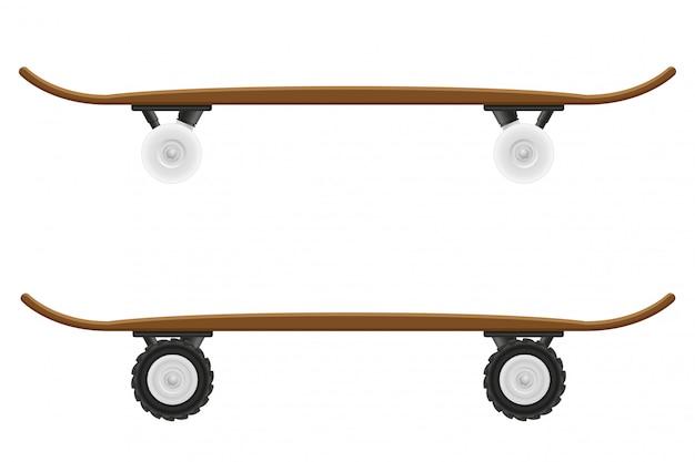 スケートボードのベクトル図