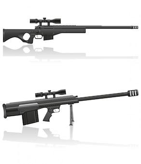 狙撃兵のライフルのベクトル図