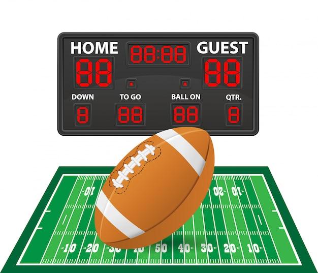 Американский футбол спортивные цифровые табло векторные иллюстрации