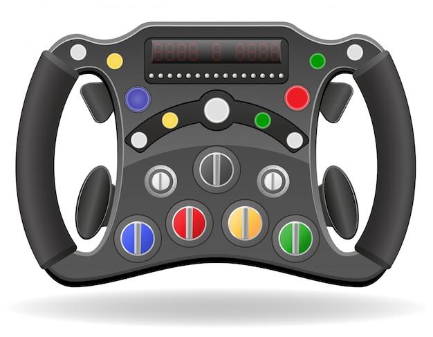 レーシングカーのベクトル図のステアリングホイール
