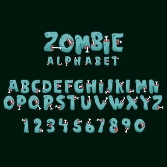 Зомби алфавит и числовой