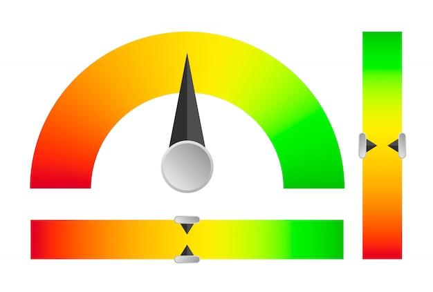 Индикатор от критического уровня до стабильного.