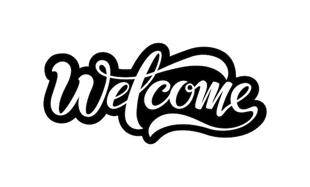 Добро пожаловать, красивая надпись изолирована