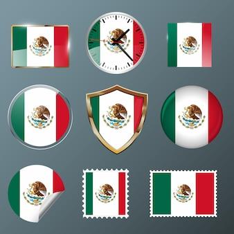 Коллекция флаг мексики