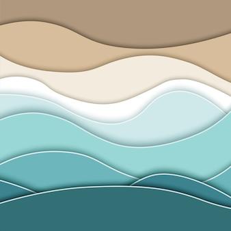 抽象的な青い海とビーチの背景