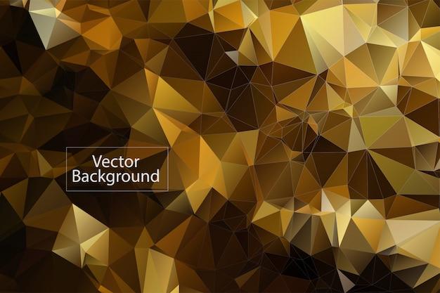 黄金の多角形のモザイクの背景